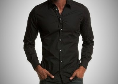 Hugo Boss Black Fitted Dress Shirt & Seven Fitted Jeans