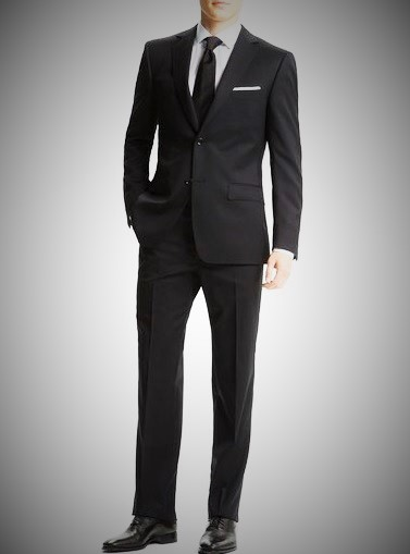 Armani or Hugo Boss Black Fitted Suit
